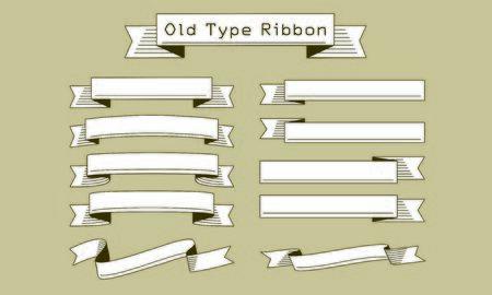 Old-fashioned type ribbon set