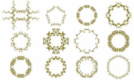 Gothic-style frame 12 set Vektorové ilustrace