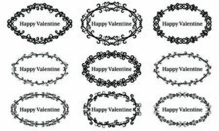 9 sets of Happy Valentine's day frames
