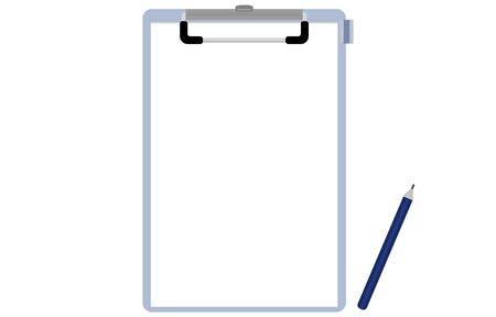 Illustration of clipboard and white paper  イラスト・ベクター素材