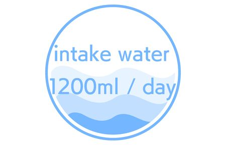 Image illustration of the standard of daily fluid intake