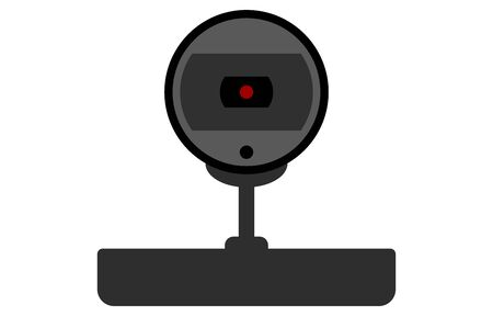 Illustration of a mounting type webcam