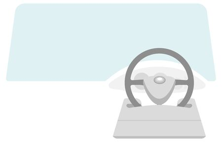 Illustration of a table that can be attached to the steering wheel of a car