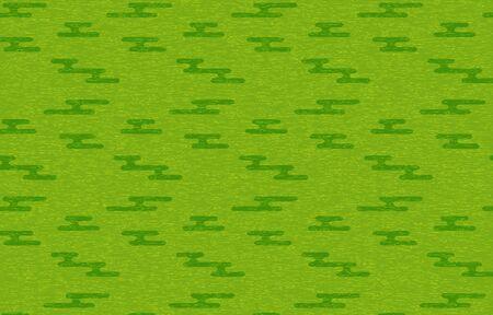 Green Japanese paper and Japanese pattern: haze shape