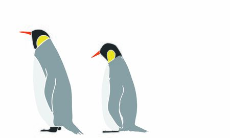 Illustration of emperor penguin