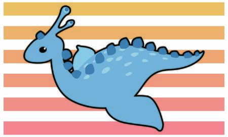 Dinosaur waterside dinosaur vector illustration - black border