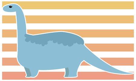 Dinosaur brachiosaurus vector illustration - white border Иллюстрация