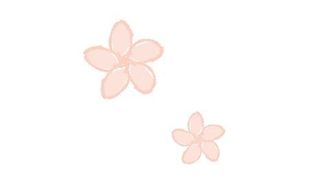 Simple cherry blossom vector icon Çizim
