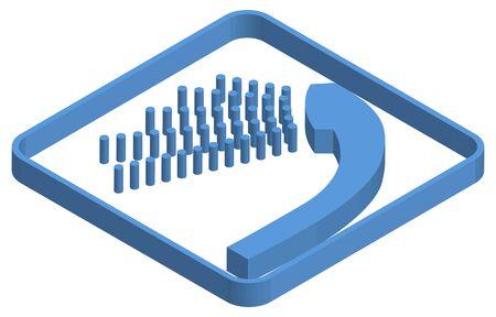 Blue isometric illustration of shower Ilustracja