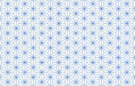Japanese pattern with white shading on a transparent background blue: hemp leaf