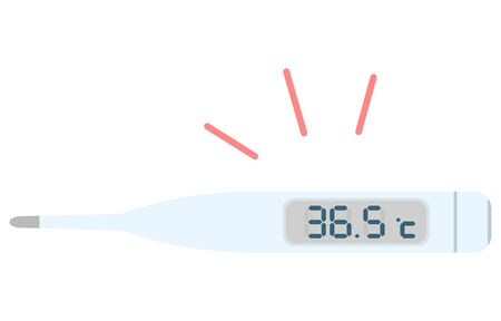 Illustration of a thermometer showing 36.5 degrees