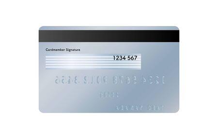 Illustration of the back side of a credit card (blue)