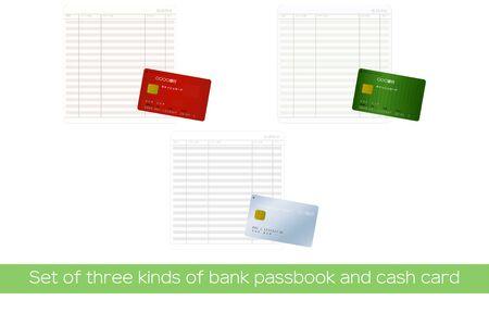 Opened Passbook and cash cardTranslation: Ordinary depositoverviewpayment amountdeposit amountbalancemarkbankcash cardTaro Yamadainstitution codestoreaccountdate
