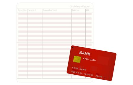 Illustration of a passbook and cash card that opened the entry page
