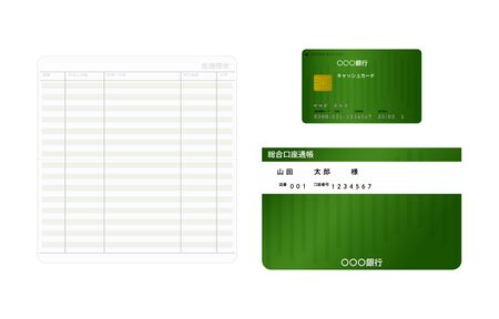Passbook (open, close) and cash card