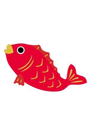 New Year card material: sea bream vector illustrationJapanese new year decoration