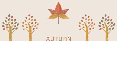 Illustration of maple and roadside trees in autumn colors, transparent watercolor styleVector illustration  イラスト・ベクター素材