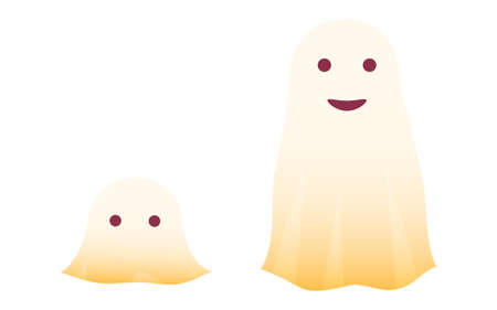 Illustration of simple ghost for Halloween Vector illustration Иллюстрация