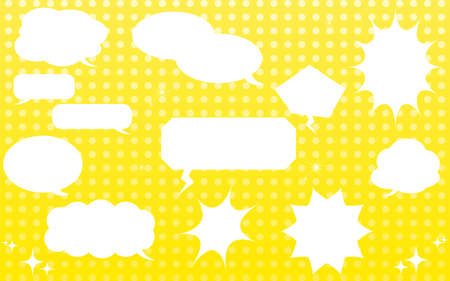 Speech Bubble Material: Speech bubble with popped dot pattern with gradation