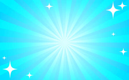 Background material: Radially glittering background illustration