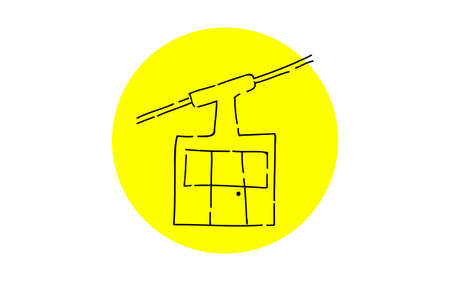 Analog handwriting style loose touch icon: Ropeway