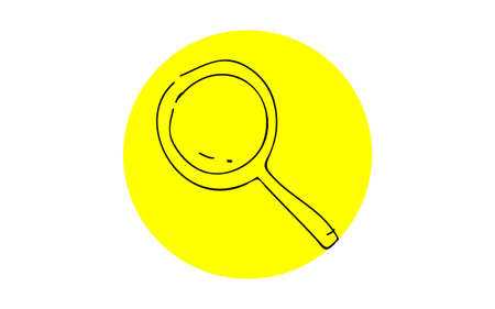 Analog handwriting style loose touch icon: magnifying glass  イラスト・ベクター素材