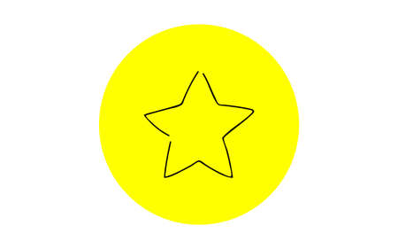 Analog handwriting style loose touch icon: Star