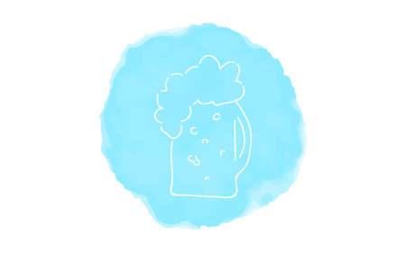 Handwritten simple icon illustration: Beer