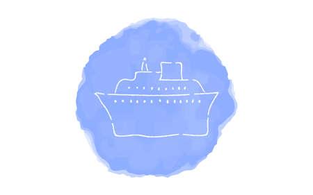 Handwritten simple icon illustration: Cruiser Illustration