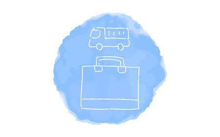 Handwritten simple icon illustration: Delivery Çizim