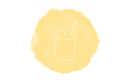 Handwritten simple icon illustration: Drink