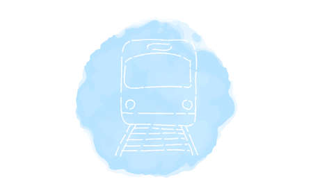 Handwritten simple icon illustration: train