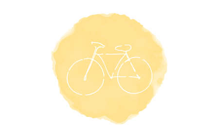 Handwritten simple icon illustration: Bicycle