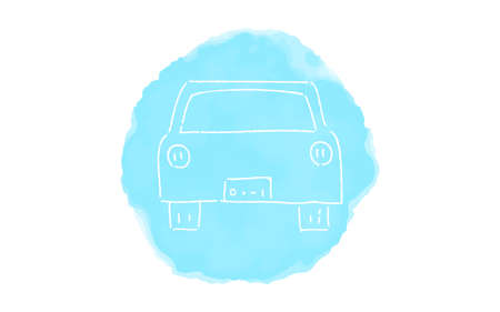 Handwritten simple icon illustration: car