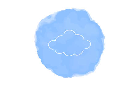 Handwritten simple icon illustration: Cloudy Çizim