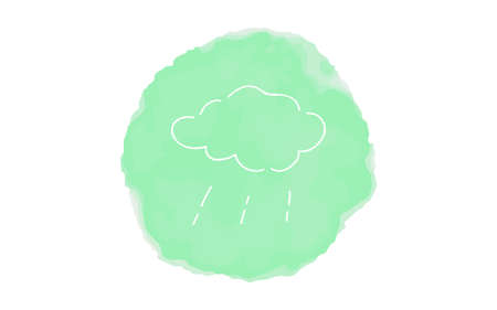 Handwritten simple icon illustration: Rainfall Çizim