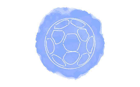 Handwritten simple icon illustration: soccer ball Çizim