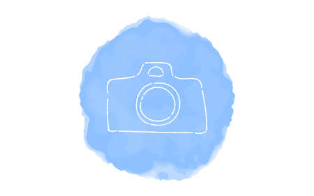Handwritten simple icon illustration: camera