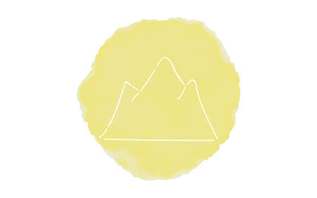 Handwritten simple icon illustration: Mountain Çizim