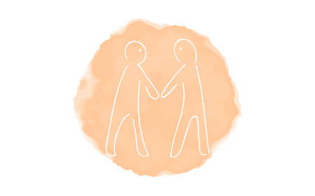 Handwritten simple icon illustration: Meeting