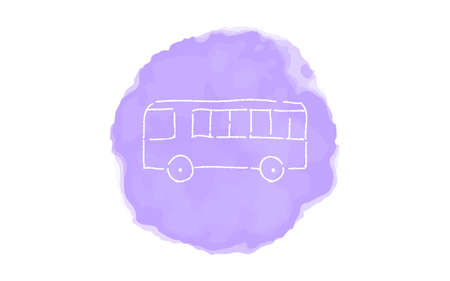 Handwritten simple icon illustration: Bus