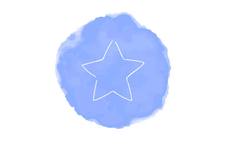 Handwritten simple icon illustration:  Star