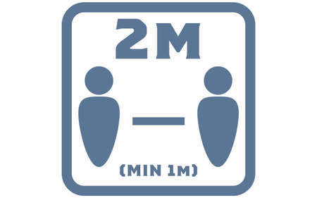 Simple icon illustration of social distance