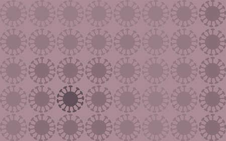 Background pattern illustration spread with coronavirus