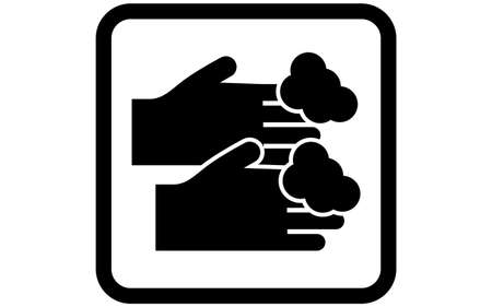 Icon illustration of washing hands with soap 向量圖像