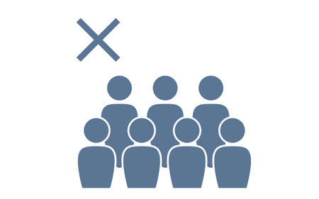 Icon illustration that deprecates crowding