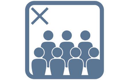 Icon illustration that deprecates crowding