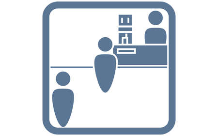 Icon illustration that recommends to line up with a wide space