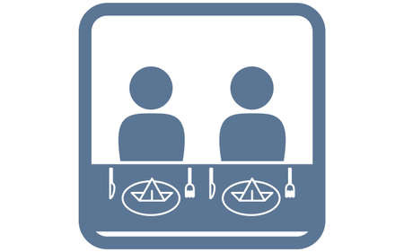 Icon that recommends side-by-side meals