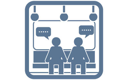 Icon recommending that you refrain from talking on the train Ilustração